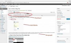 Blog writing and editing tools