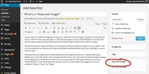 Featured Image Tool in WordPress