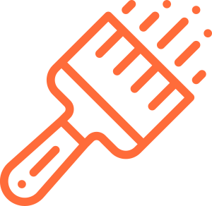 Orange Brush Icon