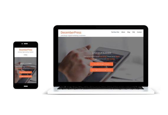 DecemberPress screen images