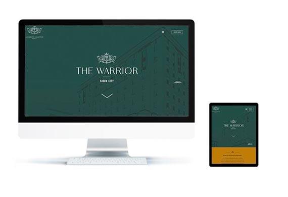 warrior hotel website screenshots