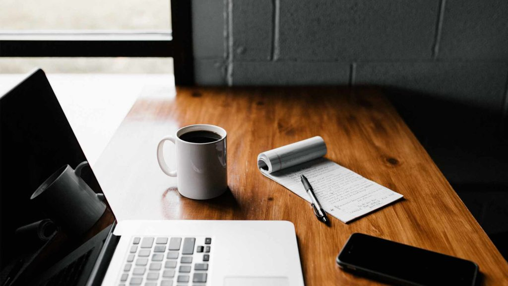 Blog writer's desk